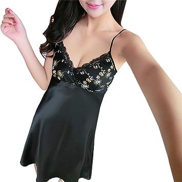099539598 NEARTIME Women Sexy Lace Lingerie Nightwear Underwear Babydoll Sleepwear  Bow Sling Split Nightdress Pajamas