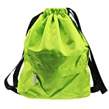 Waterproof Drawstring Bag,Lightweight Sports Backpack for Swimming,Gym,Beach,Camping (Green) For Sale