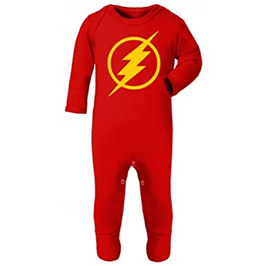 Infinitetee The Flash Baby Grow Vest Newborn Halloween Costume