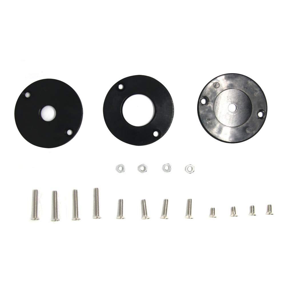 omufipw Aluminium-Fr/ästisch-Einsatzplatte f/ür Holzb/änke mit 4 Ringen und Schrauben-Einsatzplatte