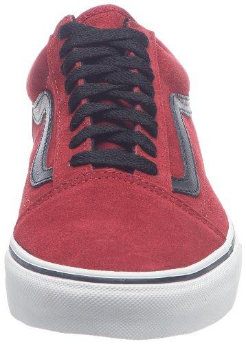 Vans U Old Skool, Baskets mode mixte adulte Rouge ((Dvlwrsprda)Blk)