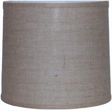 A Ray Of Light BUR151614 Burlap Modified Drum Lamp Shade