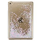 """Liquid Case for 7.9""""Apple iPad Mini4, MAOOY Creative Design Transparent Hard Protective Back Cover with Flowing Water Bling Glitter Flash Powder Skin for iPad Mini 4 - Pink Blue"""