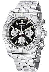 Breitling Men's AB011011/B967 Chronomat B01 Black Chronograph Dial Watch