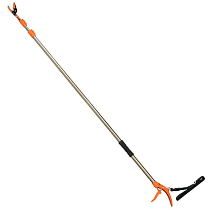 Amazon finether telescopic pole saw long reach pole pruner finether telescopic pole saw long reach pole pruner lightweight tree trimmer with bypass pruner saw greentooth