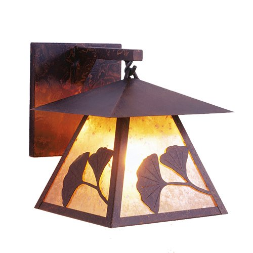 Steel Partners Lighting 2137-B-K Gingko Prairie Hanging Sconce with Khaki Lensblack Finish - Prairie Hanging Finish