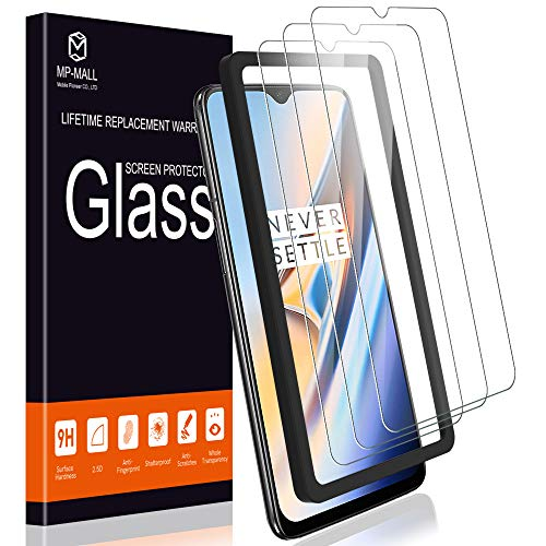 MP-MALL [3-Pack] Screen Protector for OnePlus 6T, [Case Friendly] Tempered Glass [Alignment Frame Easy Installation] with Lifetime Replacement Warranty