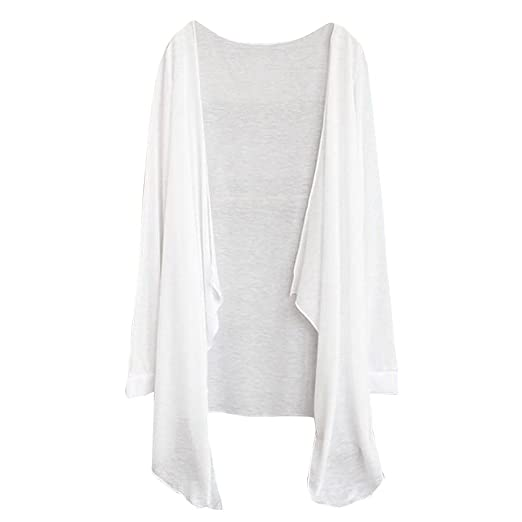 8312ca5e6076 Amazon.com  Women Sun Protection Clothing Clearance Sale Teen Girls Long  Sleeve Casual Thin Cardigan Beach Wear Blouse Tops (A)  Clothing
