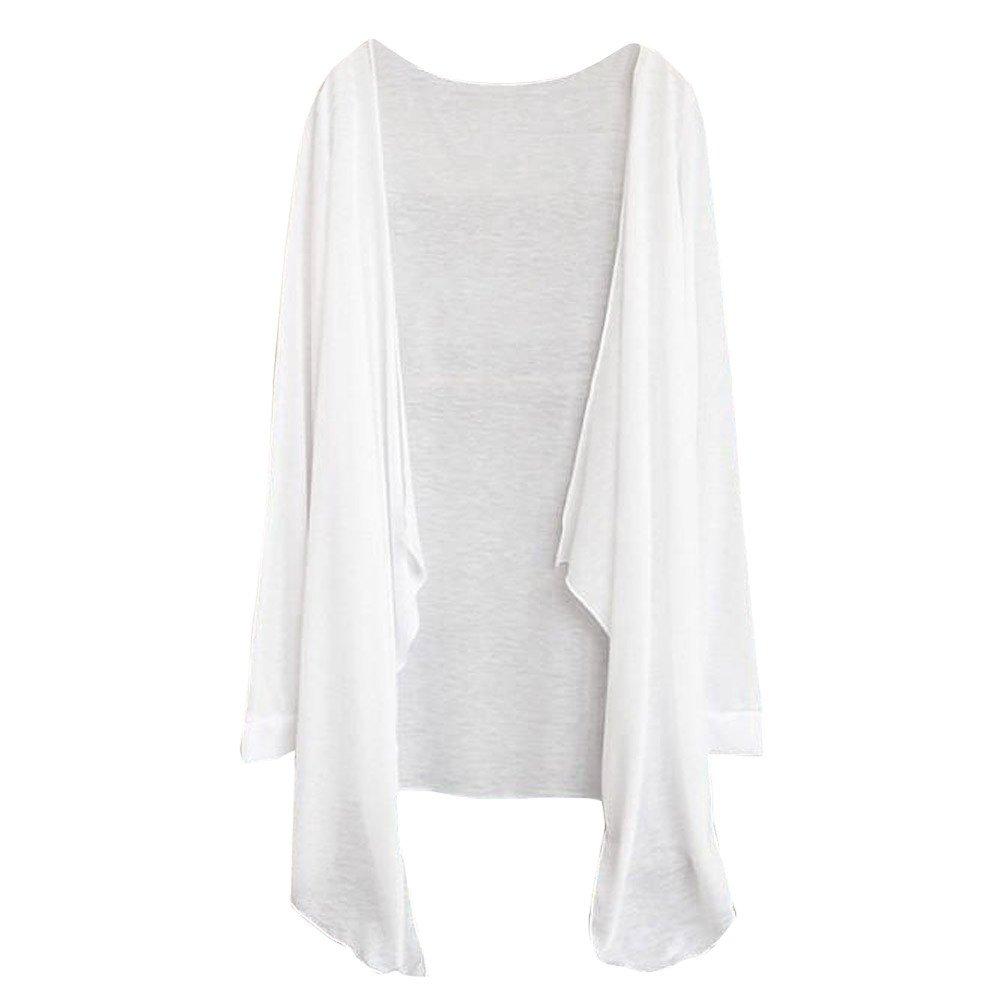 Mysky Fashion Women Casual Solid Long Thin Cardigan Ladies Classic Modal Sun Protection Clothing Tops