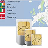 1GB of Mobile Internet data sim card to use in 7 European countries for 30 Days Rechargeable