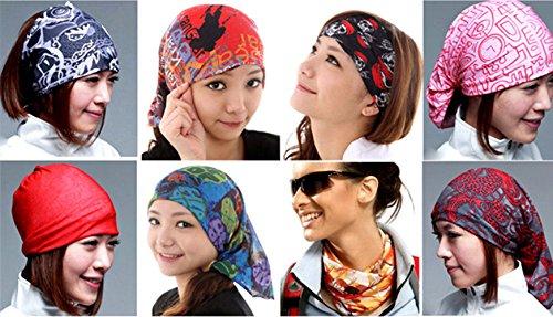 TLT Versatile Headwear Multifunctional Headband for Athlete,Outdoor Sports,Runner, Biker,Cowboy,Motorcyclist ETC YD015F