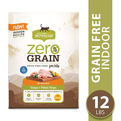 Rachael Ray Nutrish Zero Grain Natural Dry Cat Food, Grain Free Chicken & Potato Recipe, 12 Lbs, Indoor Formula