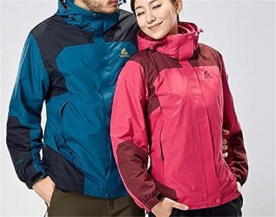 Women 3 in 1 Ski Snow Jacket Outdoor Waterproof Winter Warm Fleece Outwear Coat