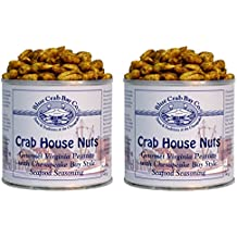 Blue Crab Bay Co. Crab House Nuts - 12 Oz Tin (Pack of 2)