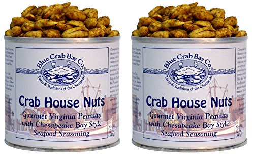 Blue Crab Bay Co. Crab House Nuts - 12 Oz Tin (Pack of 2) (Bay House)