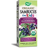 Nature's Way Sambucus for Kids, Organic Elderberry Syrup, 4 oz., 4 Fluid Ounce