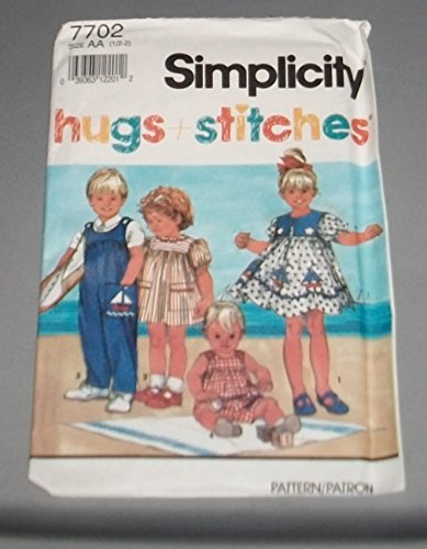 (Simplicity 7702 Hugs & Stitches Sailor Dress Or Jumpsuits Size AA 1/2-2)