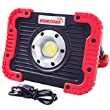 Rechargeable LED Work Light Outdoor Camping Portable COB Light Lantern IPX5 Waterproof Flood Lights Hiking Car Repairing with SOS Mode (Red color)