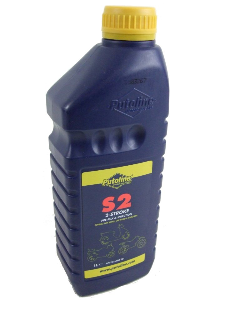 PUTOLINE SEMI SYNTHETIC 2 STROKE OIL FOR MOTORCYCLES, SCOOTERS, ETC S2