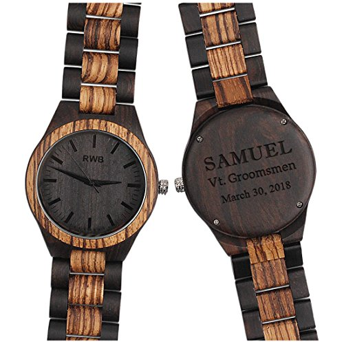 Engraved Wood Watches For Men