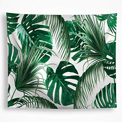 (VAKADO Leaf Tapestry Wall Hanging Tropical Palm Tree Leaf Green Banana Leaves Wall Tapestry Living Room Bedroom Dorm Home Decor)