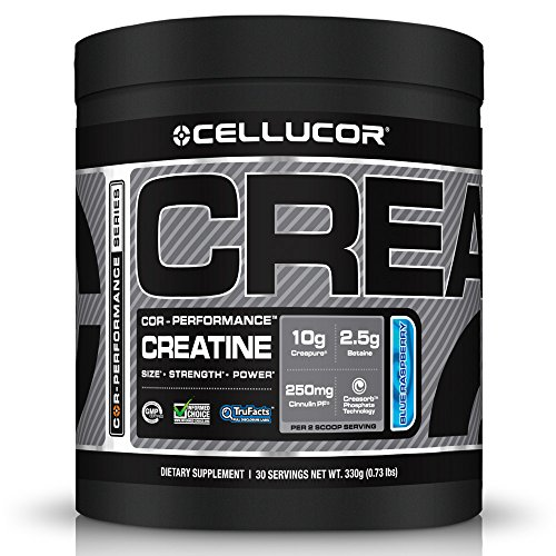 Cellucor Creatine Blue Razz Supplement Powder, 330 Gram