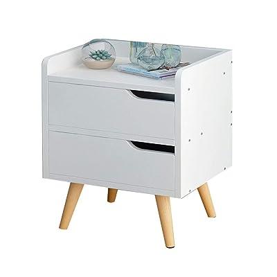 YUER Mesita de Noche Blanca Mesita de Noche Moderna Minimalista, cajones Nordic Wind Bed Side Corner Corner Cabinet apartamento pequeño Dormitorio Armario de Almacenamiento (Color : B): Hogar