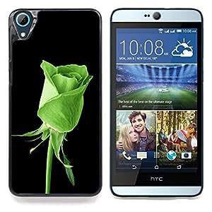 """Qstar Arte & diseño plástico duro Fundas Cover Cubre Hard Case Cover para HTC Desire 826 (Rose verde Naturaleza"""")"""