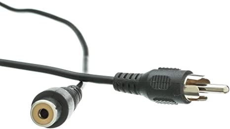 QualConnectTM RCA Audio//Video Extension Cable RCA Male to RCA Female 12 ft