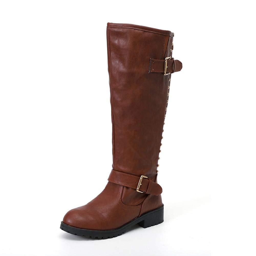 Logobeing Zapatos de Mujer Botines Botas Altas de Piel Romano de Mujer Botas Mujer Tacon Cordones Botas Largas Militar Tacones Mujer Calientes Seguridad ...
