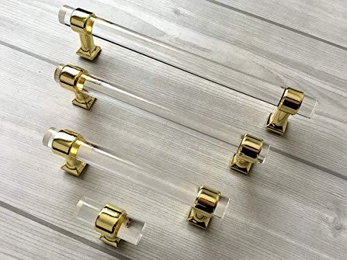 4 inch glass drawer pulls - 9