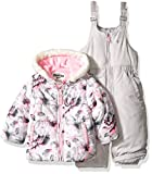 Osh Kosh Baby Girls' Infant Heavyweight 2 Pc Printed Snowsuit, Pink Floral, 24M