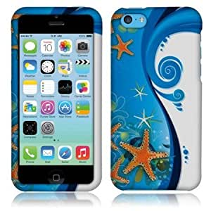 Bloutina NextKin Snap On Hard Protector Cover Case For Apple iPhone 5C Light Lite - Blue Ocean Wonder