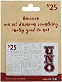 Uno's Gift Card $25