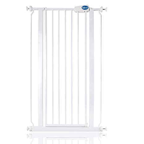 Safetots Extra Tall Safety Gate White Narrow 68.5cm to 75cm