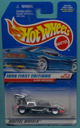 1998 - Mattel / Hot Wheels - Super Modified (Black) - 1998 First Editions #27 of 40 Cars - Collector #664 - MOC - Out of Production - Collectible