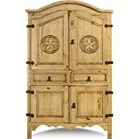 Sierra Armoire With Carved Stars on Door