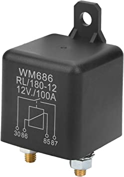 for Control Battery on//Off 12VDC 100A 4 pin Normally Open Relay Heavy Duty car Starter Relay
