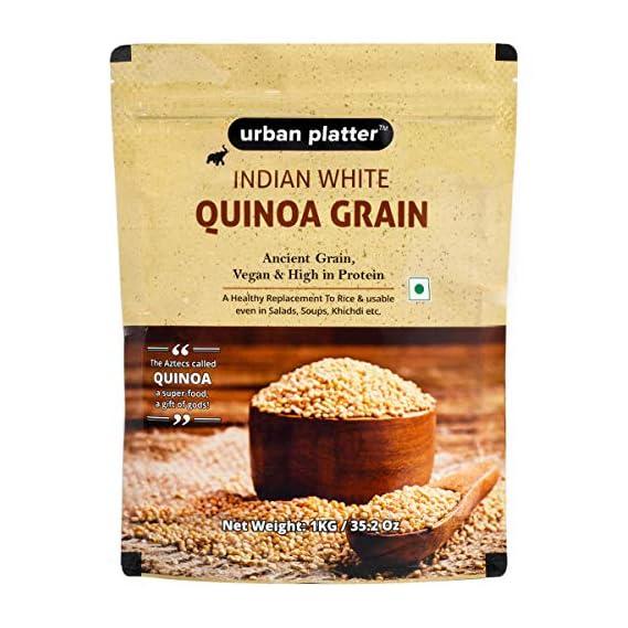 Urban Platter Whole White Indian Quinoa Grain, 1Kg