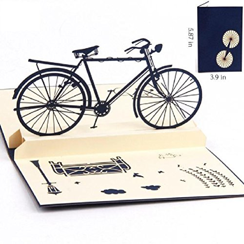 - Heliyan Cards 3D Pop Up Handmade Cut Vintage Cards Vintage Bike Creative Gifts Postcard Birthday Greeting Cards