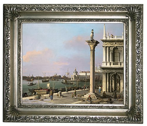 1750 Framed Canvas - Historic Art Gallery Bacino Di S. Marco: from The Piazzetta 1750 Framed Canvas Print 8