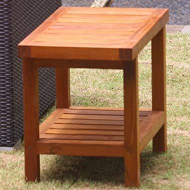 24  Teak Shower Bench - From the Spa Collection