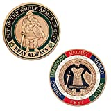 Symbol Arts Armor of God Challenge Coin - Antique Gold - Collector's Medallion - Jewelry Quality