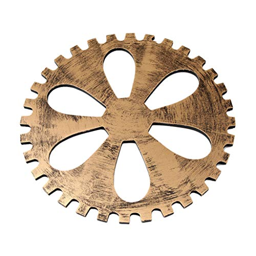 Vegan 3 Sizes Industrial Wooden Gear Steampunk Wall Decor, Art Craft Plaque Wooden Grain Tv Backdrop Living Room Bedroom