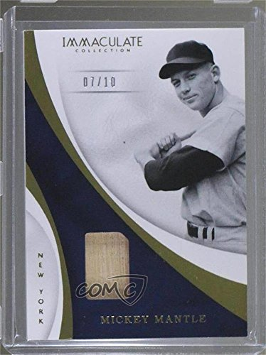 Mickey Mantle #7/10 (Baseball Card) 2017 Panini Immaculate Collection - Immaculate Swatches - Swatch S
