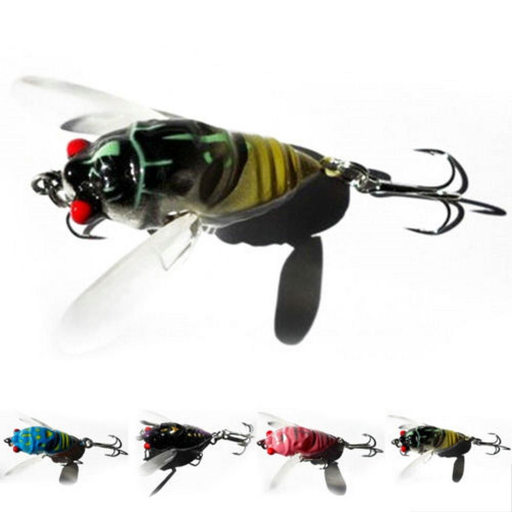 Agordo ホット 1個 4CM Cicada バス 昆虫 釣りルアー クランクベイト フローティングタックル B07G7D1G7L