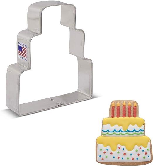 Amazon Com Ann Clark Cookie Cutters Wedding Cake Cookie Cutter 3 75 Kitchen Dining