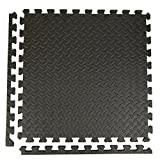 Incstores Diamond Soft Extra Thick Anti Fatigue Interlocking Foam Tiles - 2ft x 2ft Tiles Ideal for Laundry Room Flooring, Kitchen Mats, Exercise Mats, and Garage Mats (Black, 1 Tile Pack, 4 Sqft)