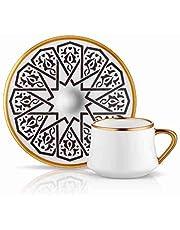 Koleksiyon Sufi Turkish Coffee Set of 6, Seljukian Black