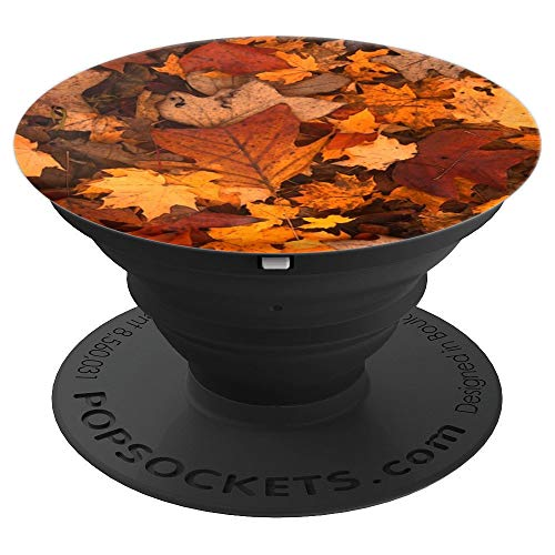 Cute Autumn tree leaves Fall foliage pattern - PopSockets Grip and Stand for Phones and Tablets